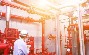 Homepage - Engineer with Sprinkler System